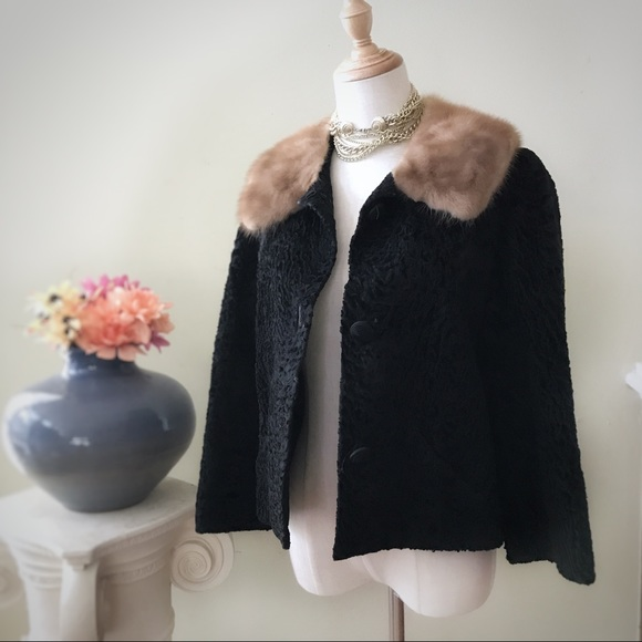 Vintage Jackets & Blazers - VINTAGE MOHAIR AND FOX COAT